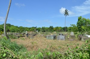 A cleared portion of Le Repentir cemetery. [GINA Photo]