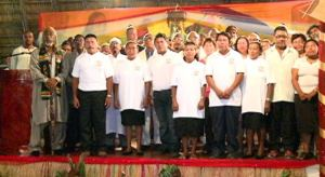 Representatives of the different religious bodies of the 2014 heritage inter faith service. [GINA Photo]
