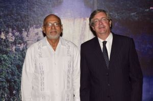 Chilean Ambassador Fernando Scmith and President Donald Ramotar