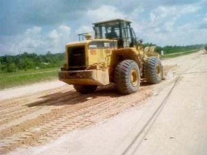 Bai Shan Lin road repairs in Region 10.