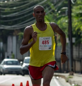 Lionel D'Andrade ahead of his competitors.