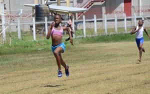 Yesenia Andrews in the girl's under-12 100 metres.