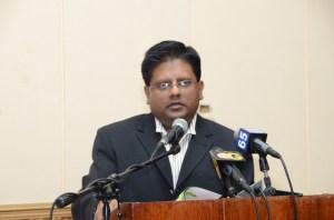Finance Minister, Dr Ashni Singh