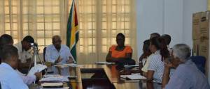 Minister Whittaker during the meeting with the Councillors.