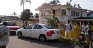 The house where the robbery took place. [iNews' Photo]