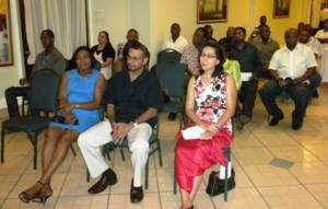 Natural Resources Minister, Robert Persaud among guests at the reception to celebrate TCL Guyana Inc. international certification.