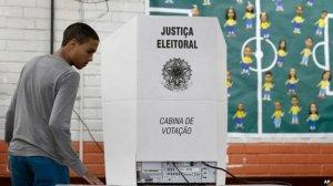 Some voting machines were set up in schools