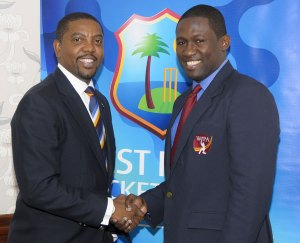 Dave Cameron (left) with Wavell Hinds.