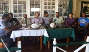 Members of the head table during the press conference on Thursday.
