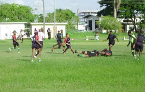 Some of the Rugby action