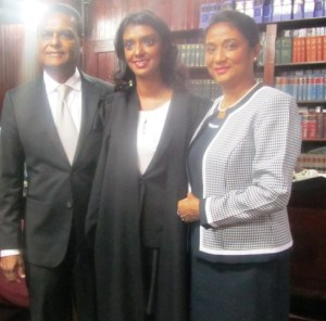 Attorney - at - Law, Marissa Nadir and her parents. [iNews' Photo]