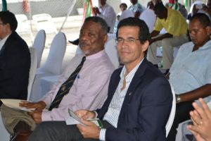 rime Minister Samuel Hinds and Chief Executive Officer, Rubis, Mauricio Nicholls. [GINA Photo]