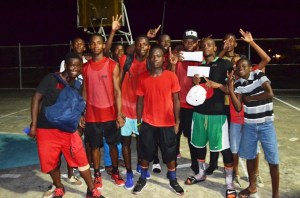 The Plaisance  team jubilant after their win.