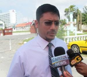 Head of Transparency Institute Gino Persaud. [iNews' Photo]