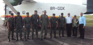 Special Forces ranks with GCAA officials at Timehri.
