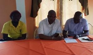 From left: Wayne Dover, Odinga Lumumba and Steve Ninvalle. [iNews' Photo]