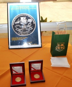 The Commemorative Coin minted by Norway to mark the 50th Anniversary of the Bank of Guyana in service to Guyana.