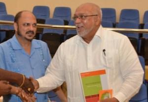 Minister of Health, Dr Bheri Ramsaran and President Donald Ramotar