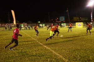Some of the action during the evening's play. [iNews' Photo]