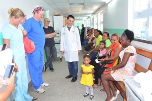 Bio-Medical Engineers along with the children who will be undergoing surgery and their parents.