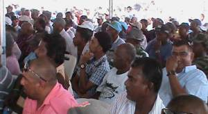 Some of the farmers at the meeting
