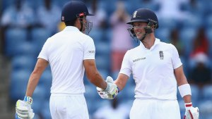 Alastair Cook and Jonathan Trott put on 125 for the first wicket