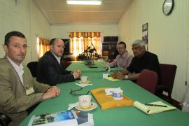 The Carter Centre Team and GECOM Officials during the meeting