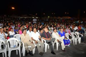 Former President Donald Ramotar and others at a recent IAC Mela