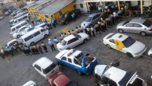Members of the Prison Service line up to vote. [iNews' Photo]