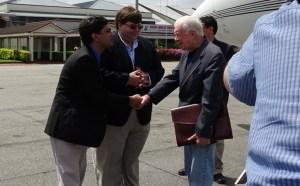 Former United States President, Jimmy Carter arrives in Guyana