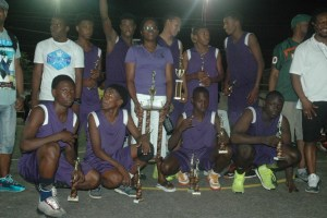 LTI pose with their winning trophy.