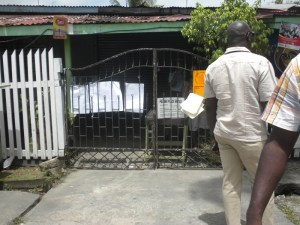 The closed polling station at Turning Point, Tucville. [iNews' Photo]