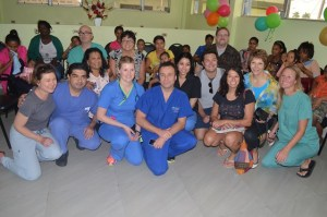 The team which conducted the surgeries on the children patients at the Georgetown Public Hospital Corporation.  Mothers with their children are in the back row.
