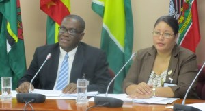Chief of Mission, Earl Anthony Simpson of Jamaica with Josephine Amelita Tamai of Belize as Deputy Chief of Mission. [iNews' Photo]