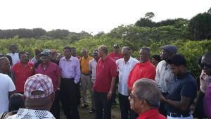 General Secretary, Clement Rohee, former Prime Minister Samuel Hinds, trade unionists Komal Chand and Seepaul Narine along with other supporters and party members.
