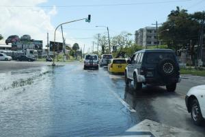 Water continues to recede on Homestretch Avenue