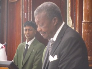 Speaker of the National Assembly, Dr Barton Scotland