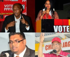 Clinton Urling, Dr Vindya Persaud, Irfaan Ali and Clement Rohee.