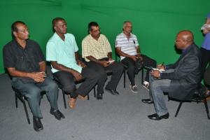 Essequibo rice farmers being interviewed