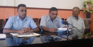 RPA President Laekah Rambrich (center) flanked by other RPA Members. [iNews' Photo]