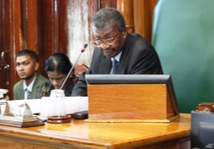 Speaker of the National Assembly,  Dr Barton Scotland. [iNews' Photo]