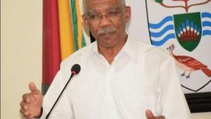 President David Granger [MTOP Photo]
