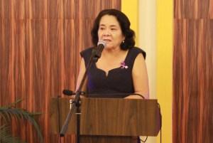 First Lady, Sandra Granger addressing the gathering