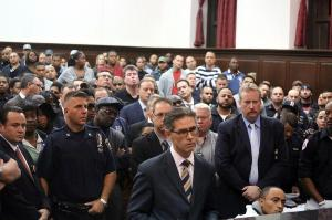 The packed courtroom