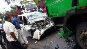 The scene of the accident [iNews Citizen Reporter Photo]