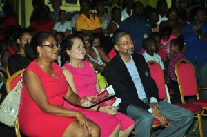 From left: Minister of Tourism, Catherine Hughes, First Lady, Mrs. Sandra Granger and Managing Director of Courts Guyana, Clyde De Haas