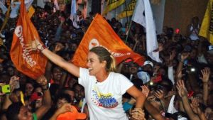 The shooting happened at a rally in Guarico state attended by Lilian Tintori