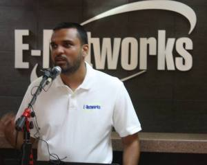 Askhok Persaud, Managing Director of E-Networks