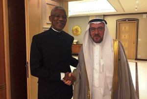 President David Granger meeting Secretary General of the Organisation of Islamic Cooperation (OIC), Mr. Iyad Ameen Madani in Riyadh- photo taken from OIC website