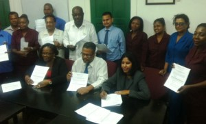 Union Representatives, DDL Reps and Chief Labour Officer, Charles Ogle.